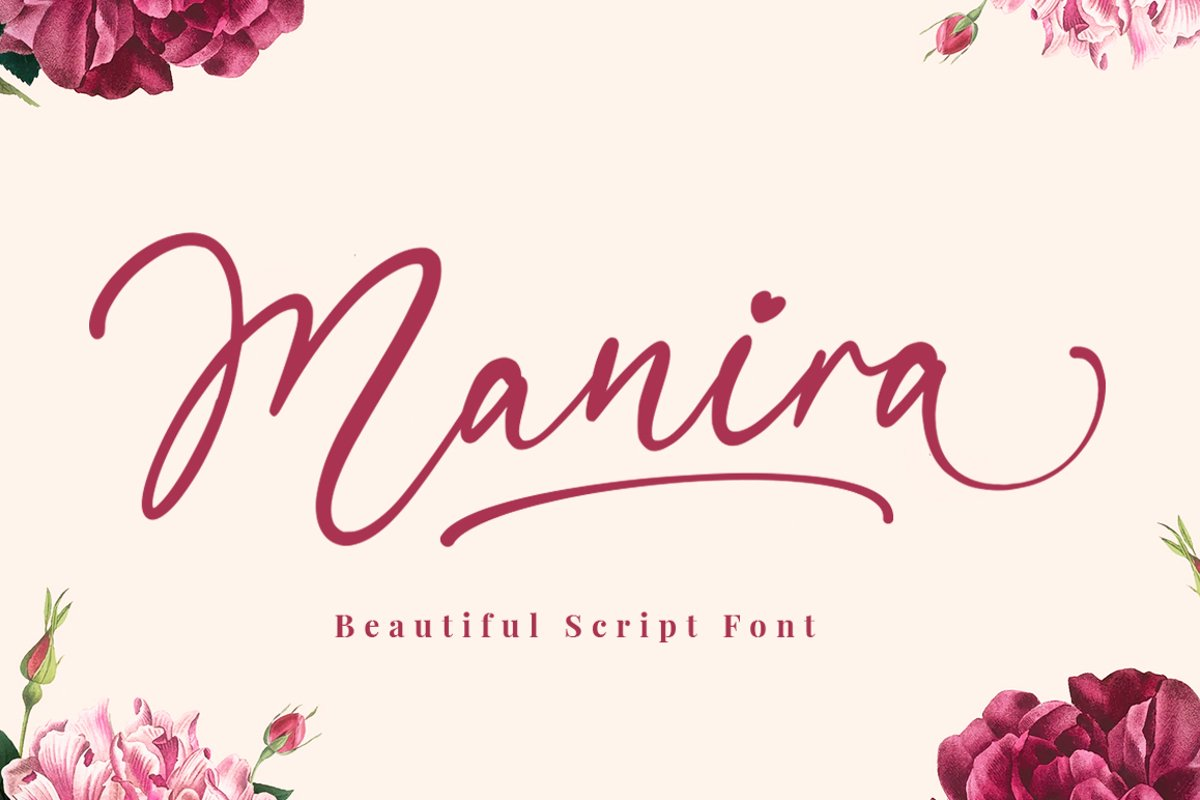 Manira Script example image 1