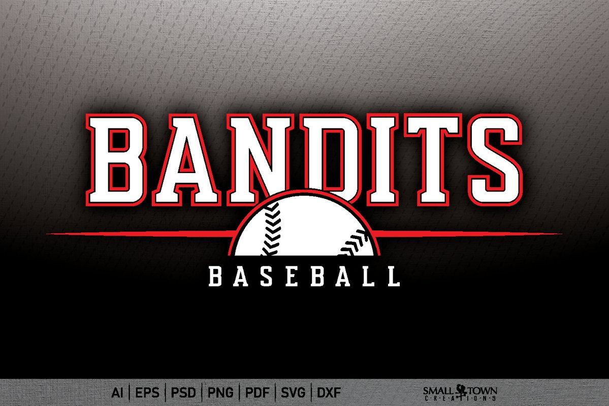 Bandits, Sports, Bandits Baseball svg, PRINT, CUT & DESIGN example image 1