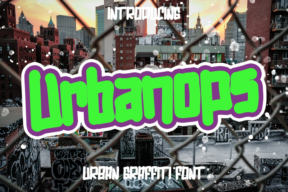 Urbanops - Urban Graffity Fonts example image 1