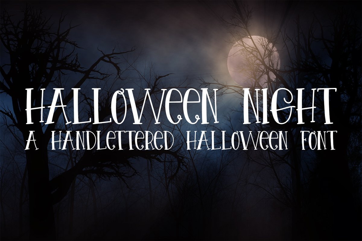 Halloween Night - A Spooky Hand-Lettered Font example image 1