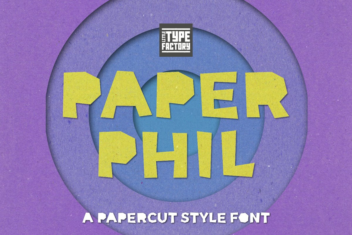 Paper Phil - a papercut craft style font example image 1