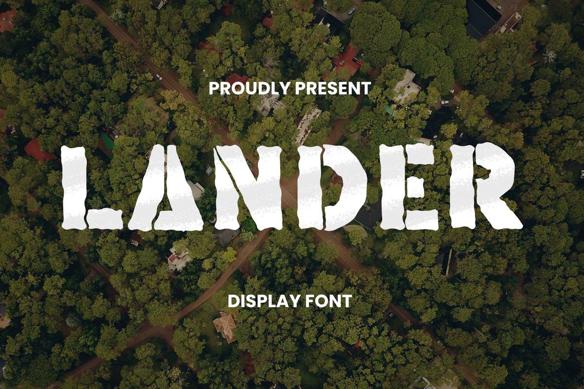 Lander Font example image 1