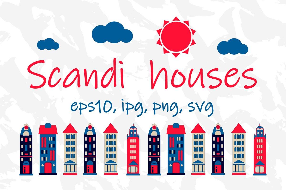 Scandi house bundle SVG scandinavian design scandi pattern example image 1