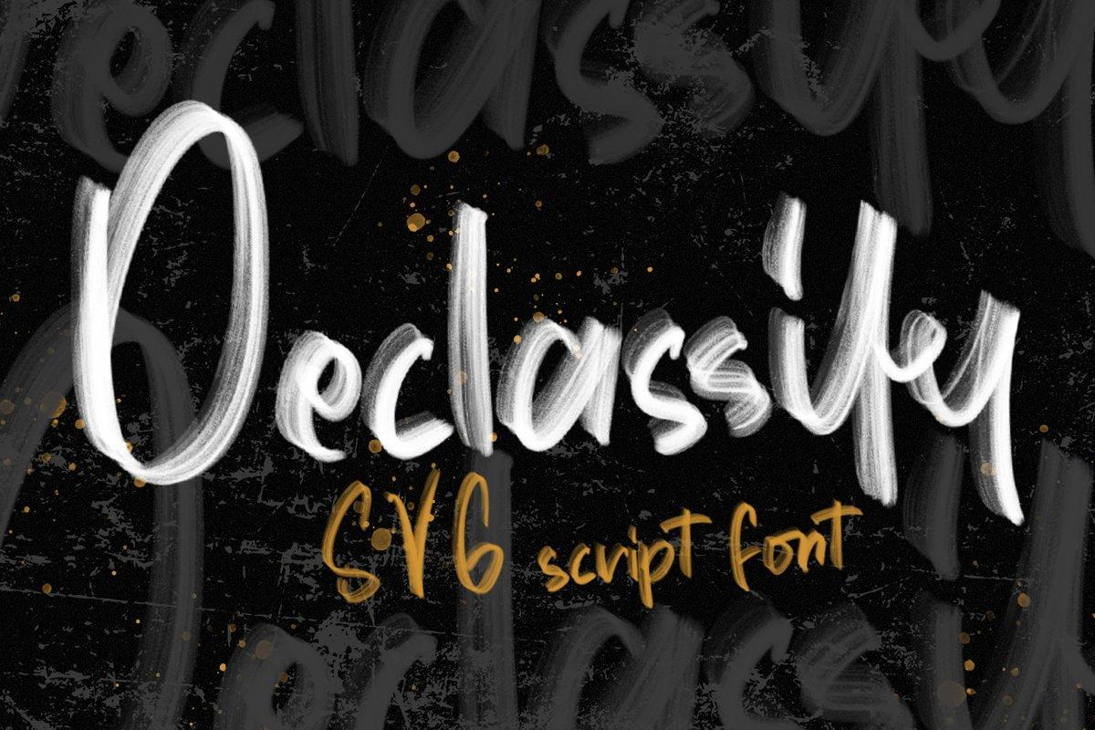 Declassify - SVG Script Font example image 1