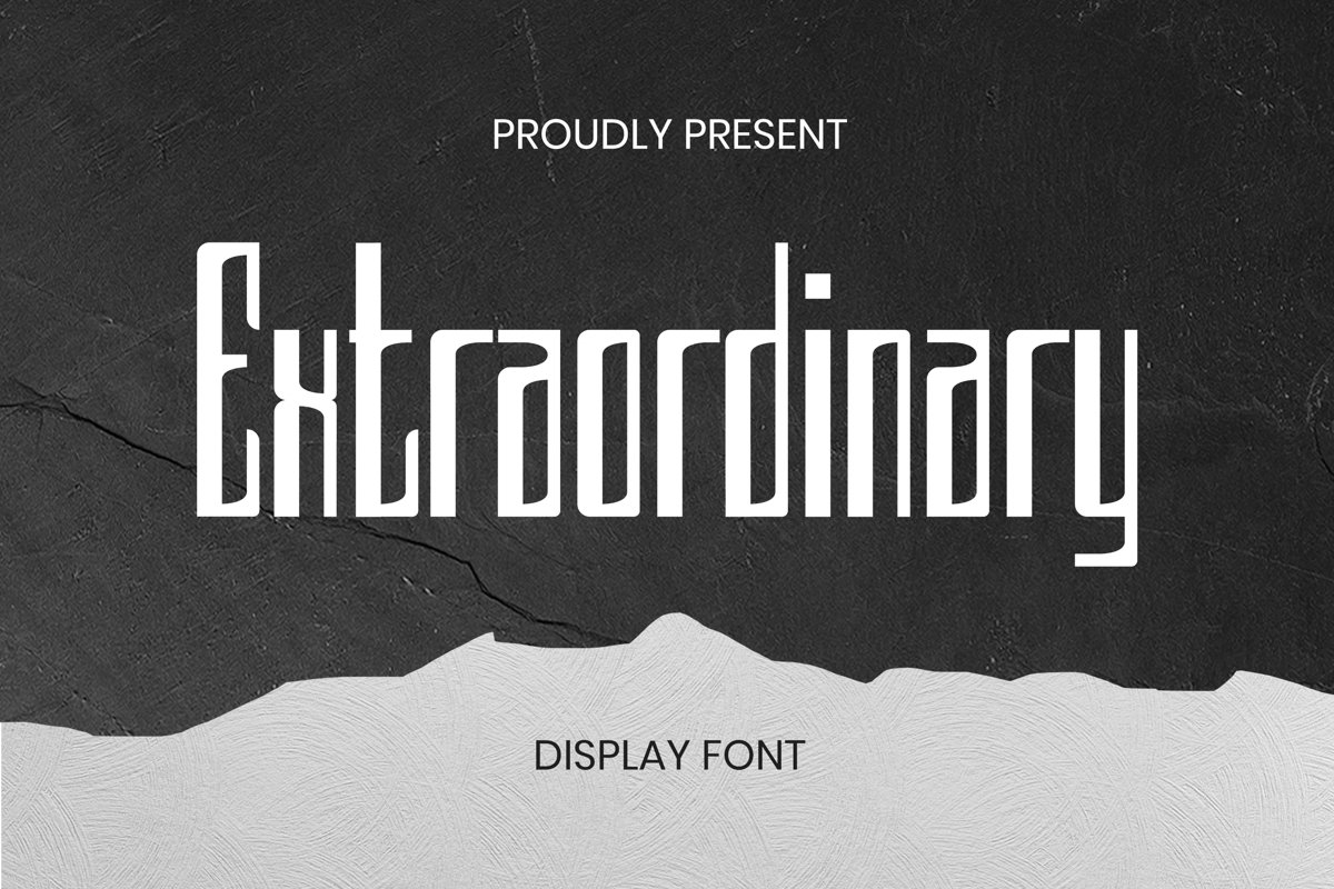 Extraordinary Font example image 1