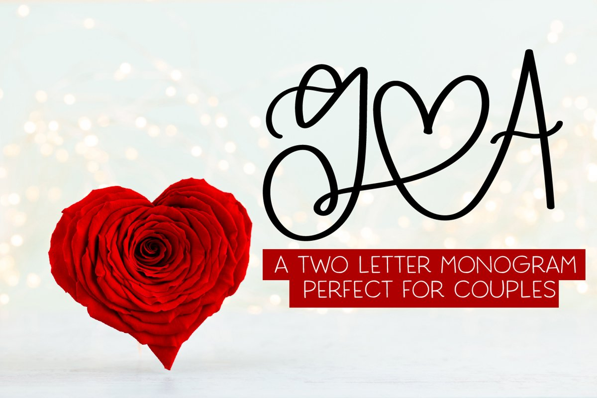 2 Letter Monogram - A-Z Letters example image 1