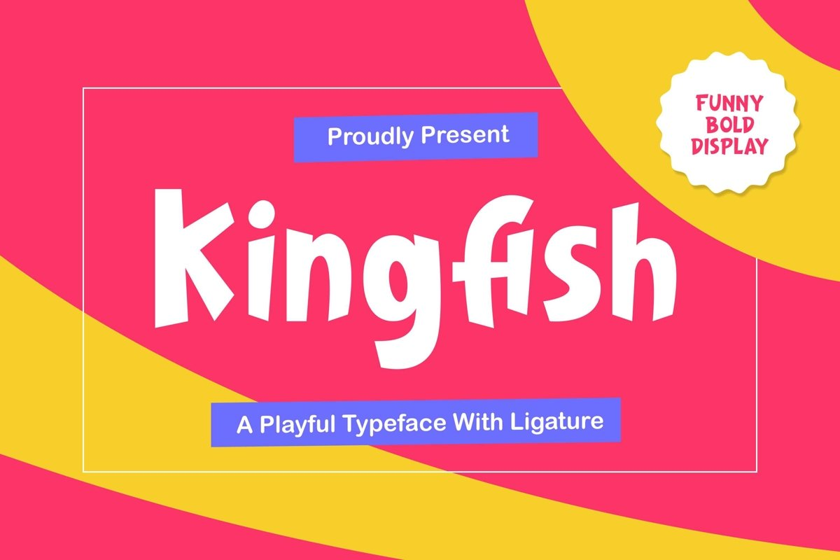 Kingfish - Playful Typeface example image 1