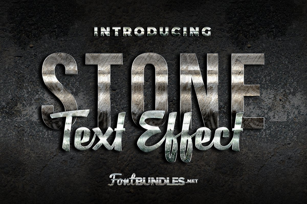 Stone Text Effect example image 1