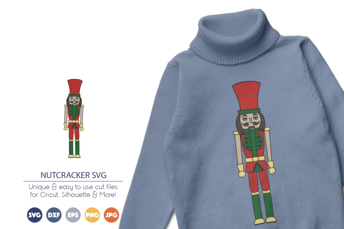 Nutcracker SVG | Christmas SVG Cut File example image 1