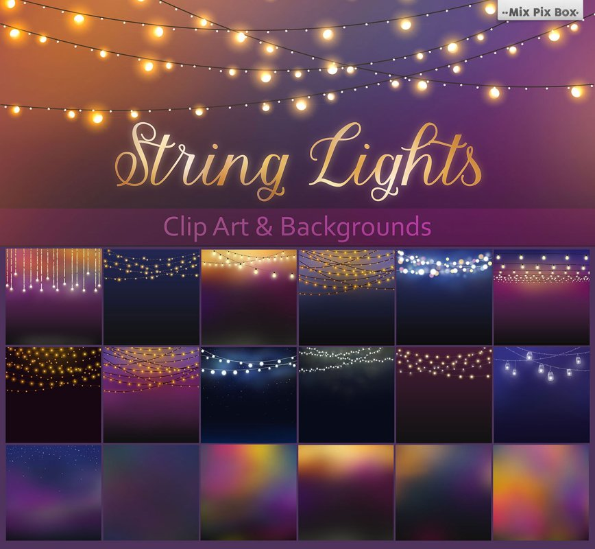 String Lights Clipart example image 1