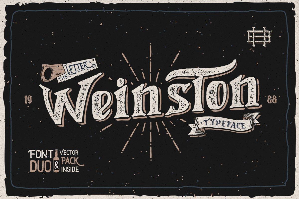 Weinston Typeface & Extras example image 1
