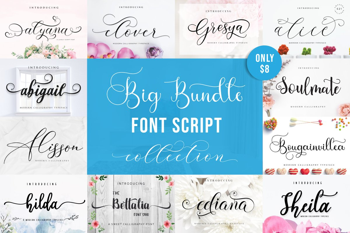 Special Fonts Bundle example image 1