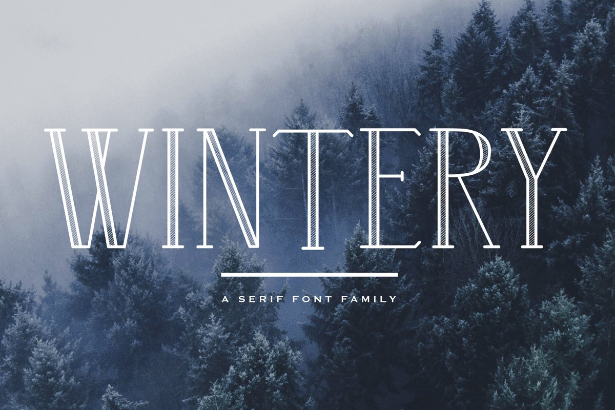 Wintery - A Serif Font Family example image 1