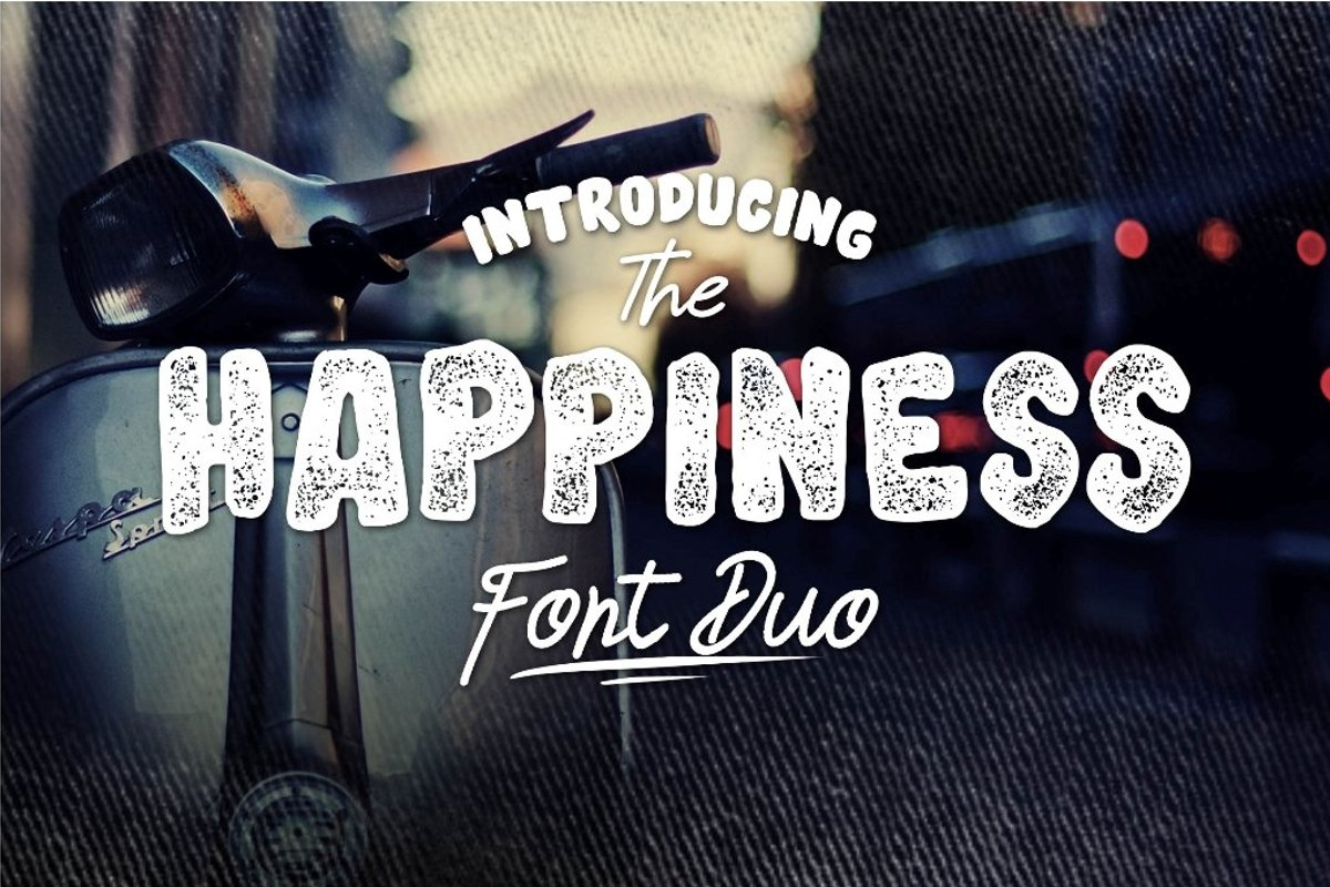 HAPPINESS FONT DUO example image 1
