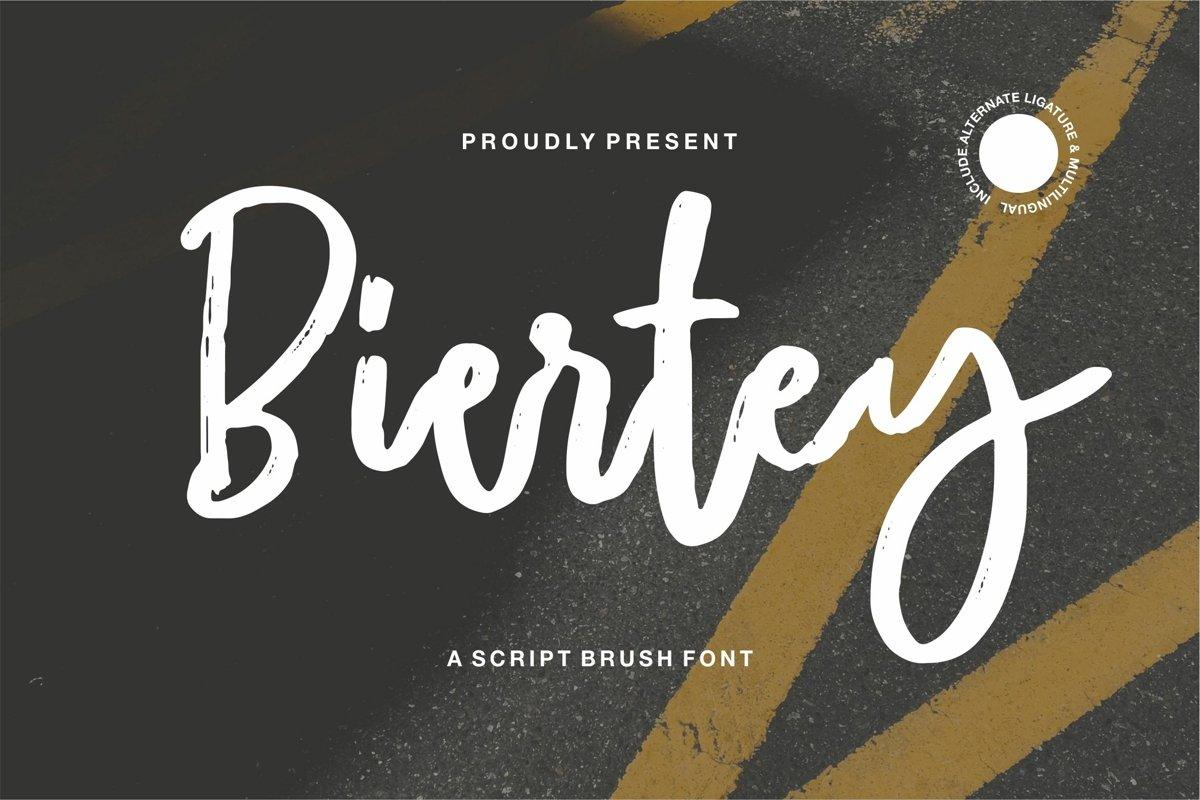 Biertey - A Script Brush Font example image 1
