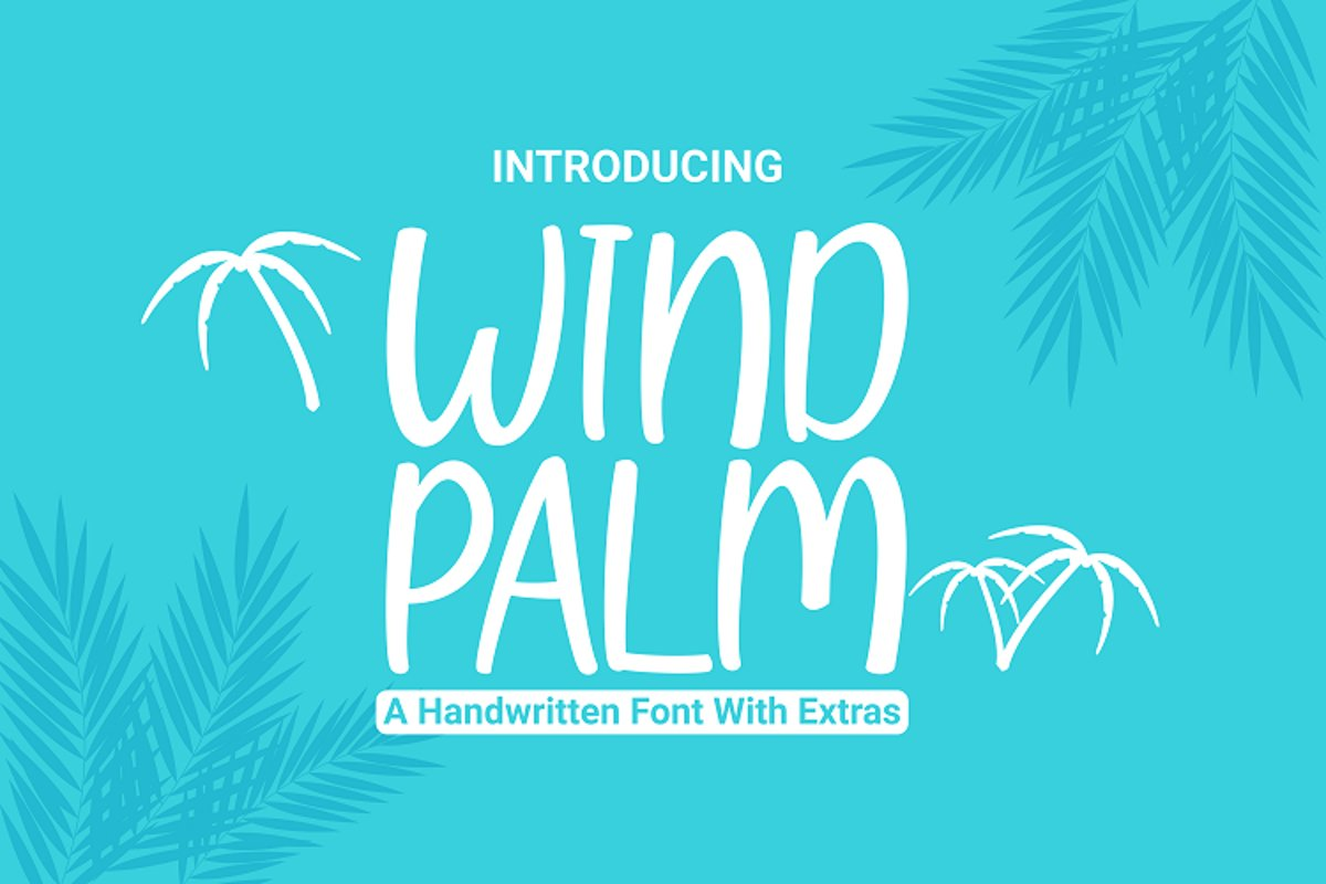 Wind Palm - Handwritten Font With Extras example image 1