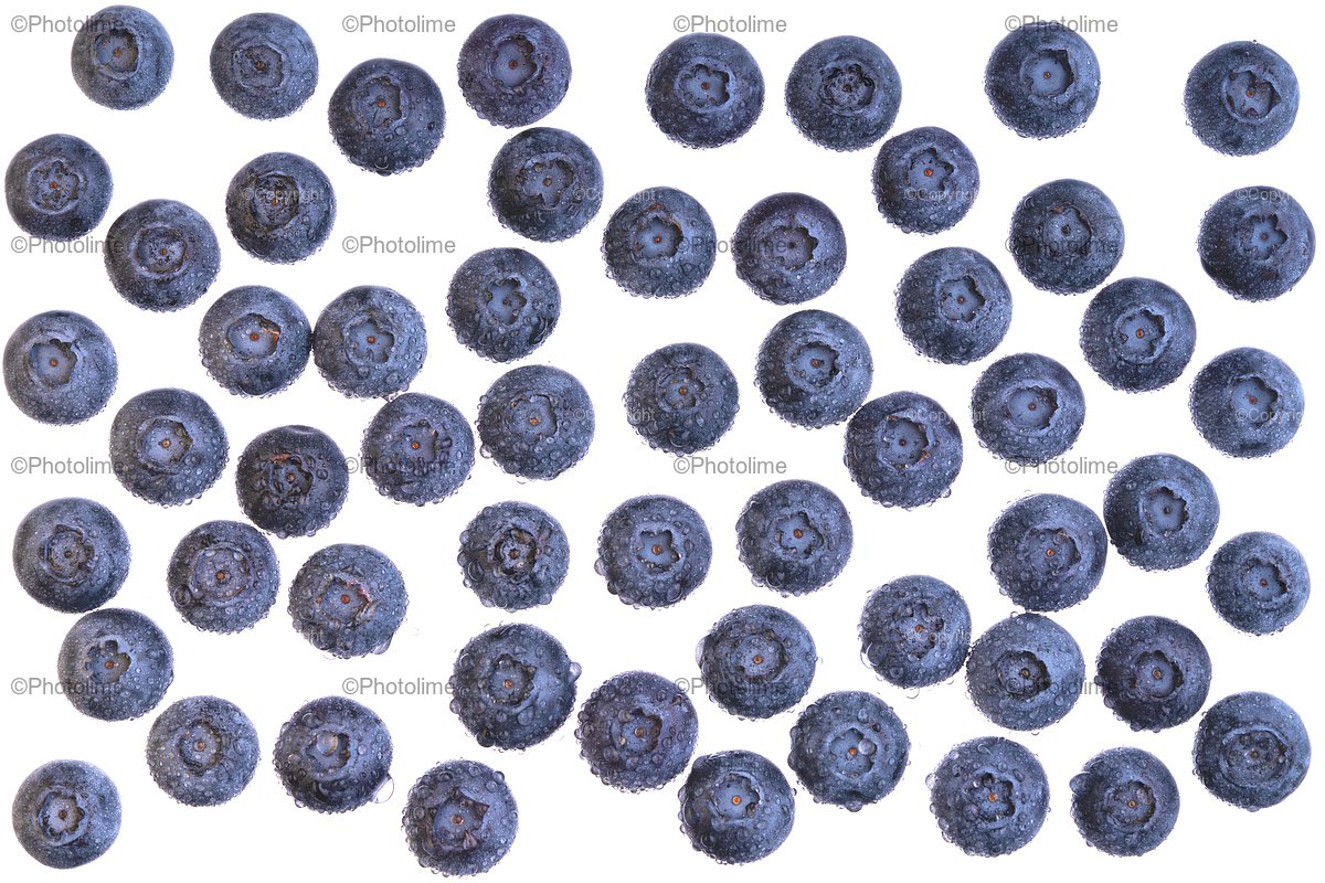 Water drops on ripe sweet blueberry. example image 1