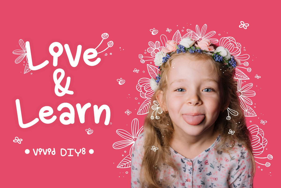 Live and Learn Baby Font- Handwritten Kawaii style! example image 1