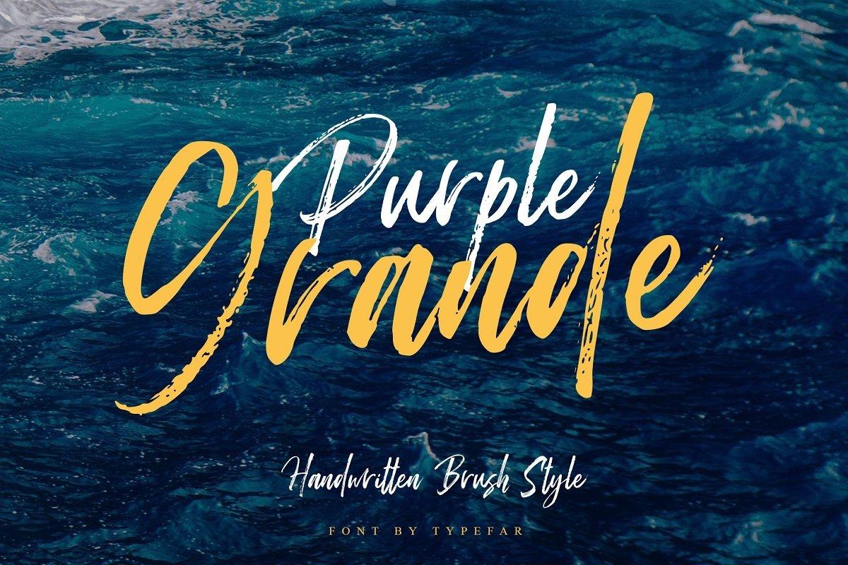 Purple Grande - Handwritten Font example image 1