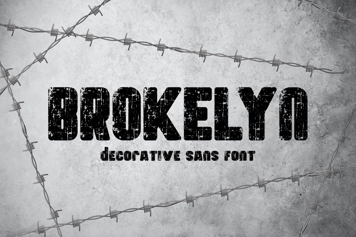 Brokelyn Font example image 1