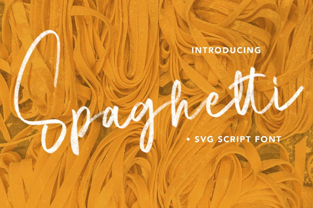 Spaghetti - SVG Script Font example image 1