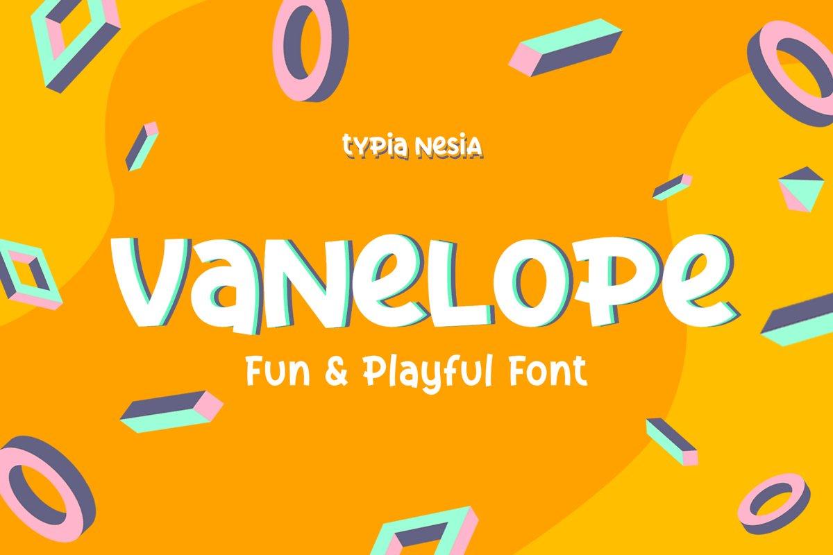 Vanelope - Fun Playful Font example image 1