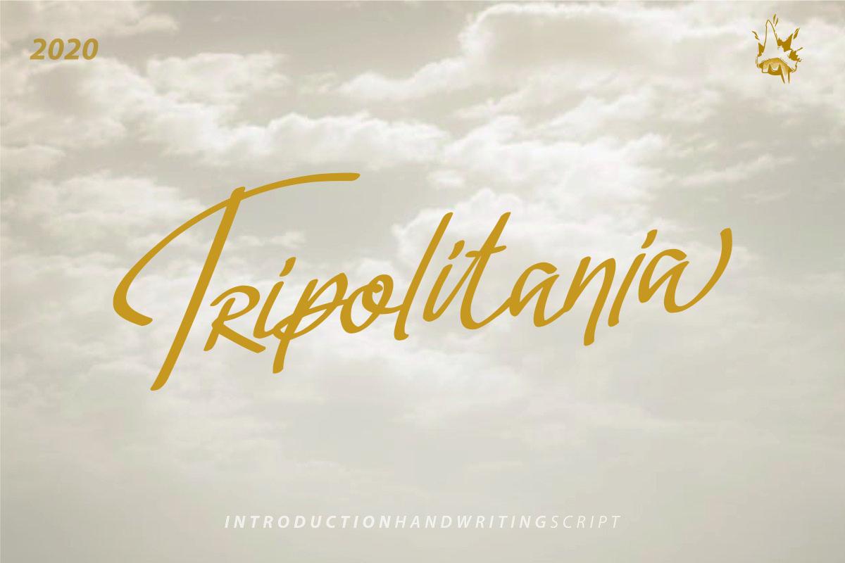 Tripolitania Stylish Handwritting Script Font example image 1