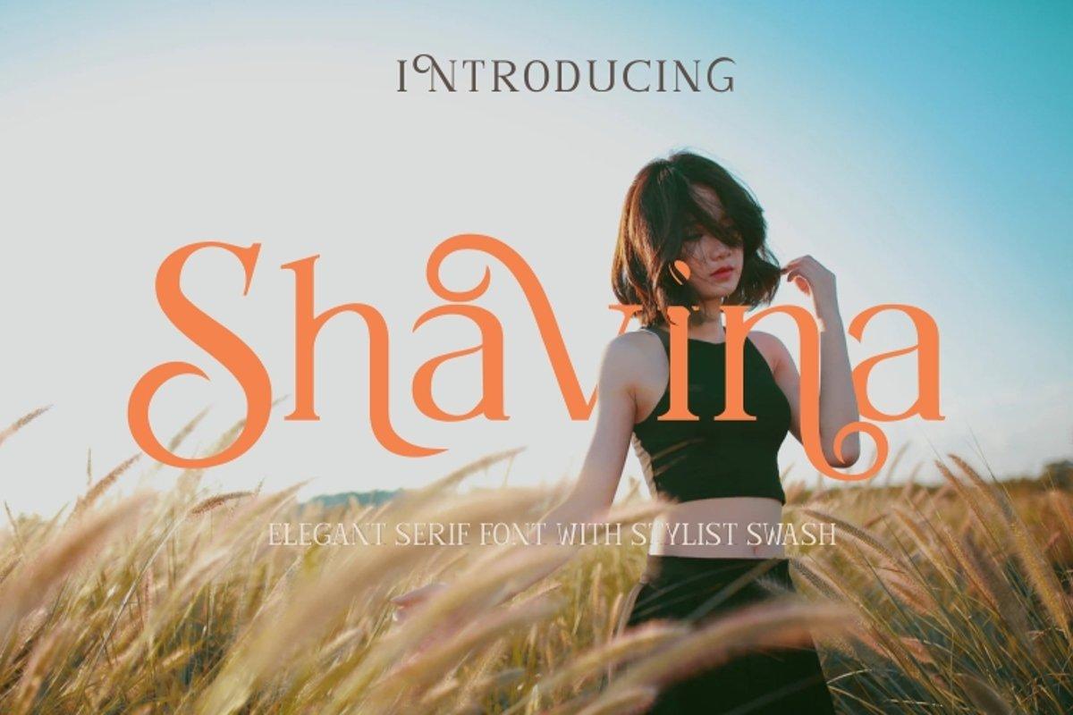 Shavina Serif Font with beauty swash and alternate example image 1