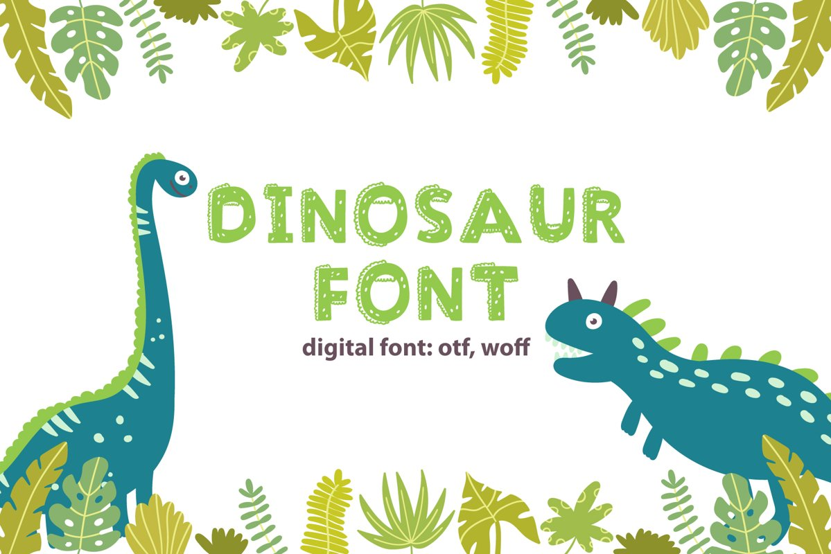 Dinosaur Font example image 1