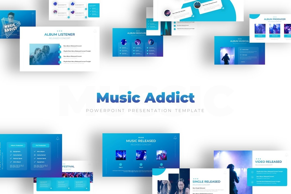 Music Addict - Powerpoint Template example image 1