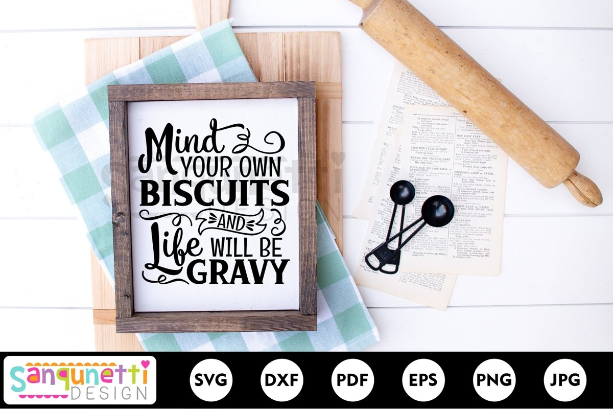 Biscuits and gravy svg, kitchen and farmhouse example image 1