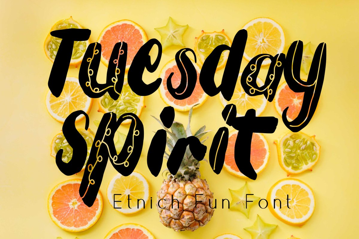 Tuesday Spirit Ethnic Font example image 1