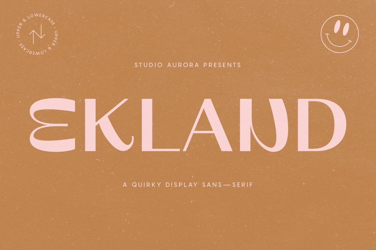 Ekland - Quirky Funky Display Font example image 1