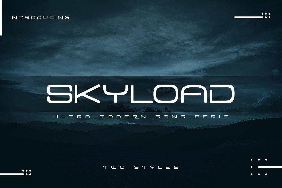 Skyload   Modern Sans example image 1