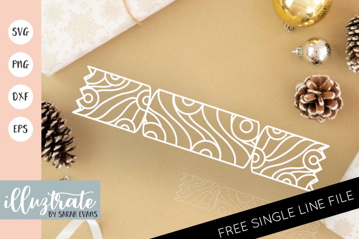 Christmas Cracker Mandala SVG | Christmas Mandala SVG File example image 1