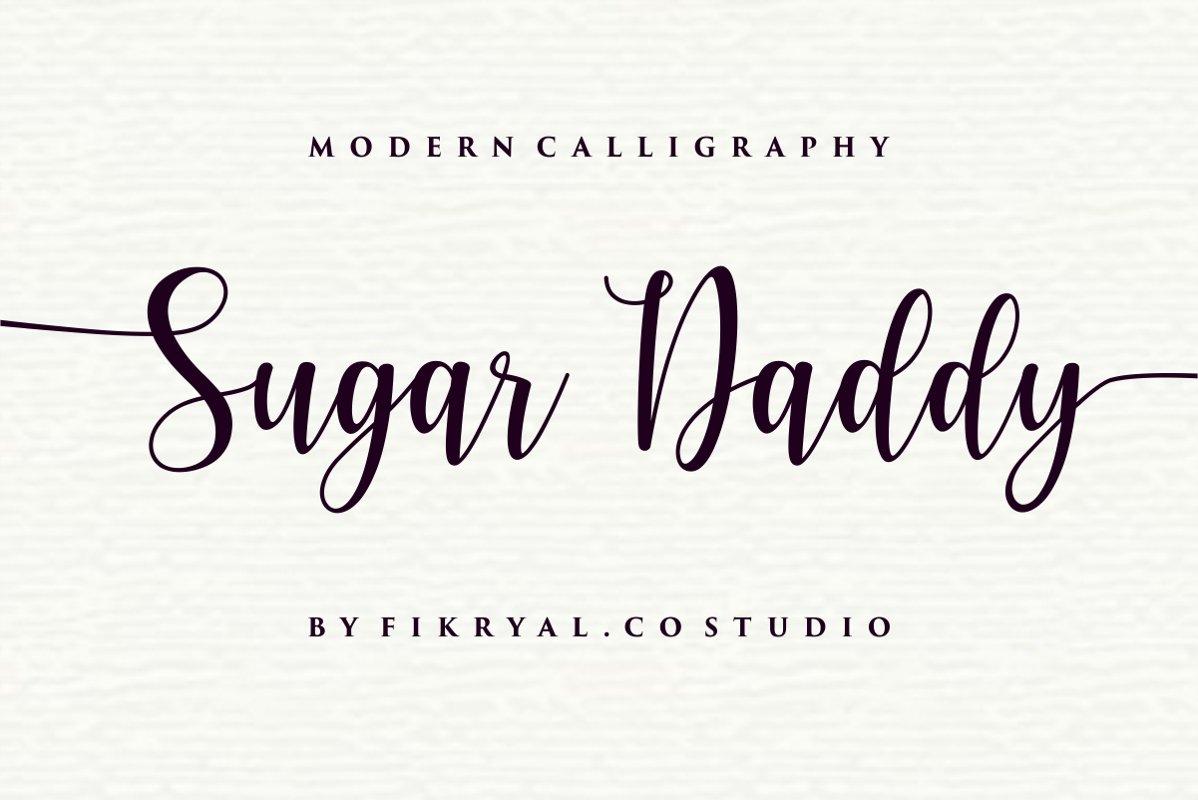 Sugar Daddy - Modern Callighraphy example image 1