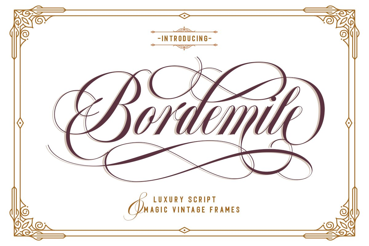 Bordemile - Luxury Script example image 1