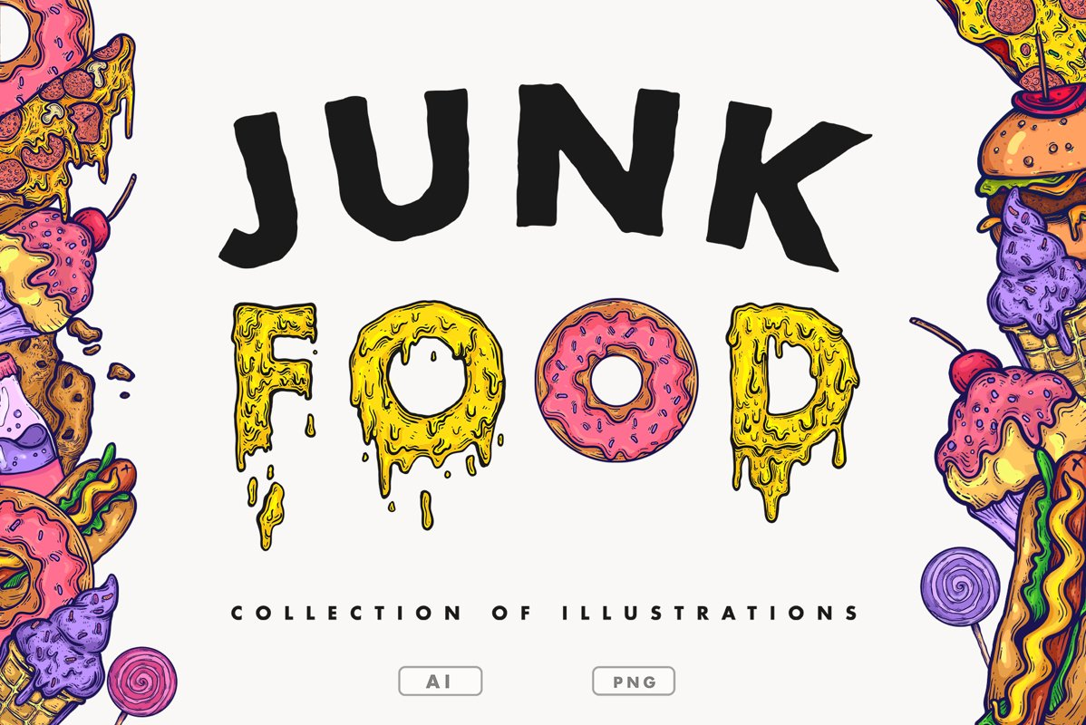 Vector Junk Food example image 1
