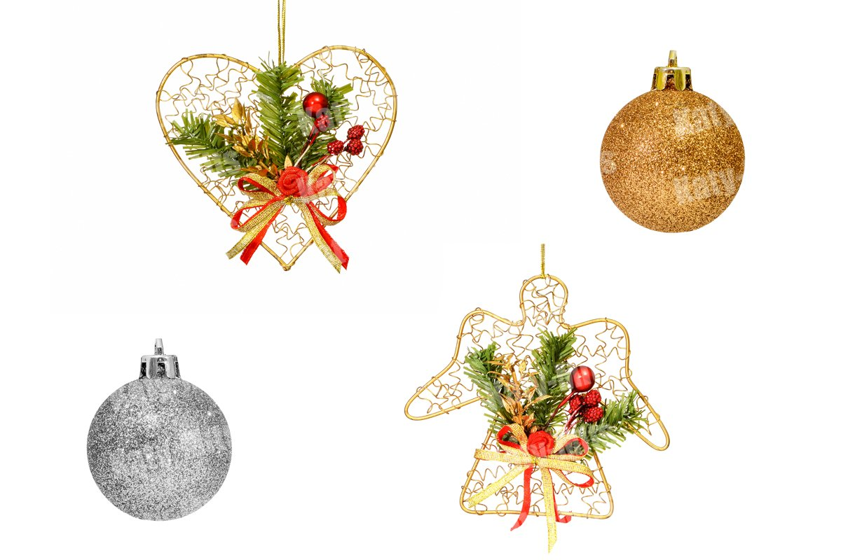 Set of Christmas tree decorations example image 1