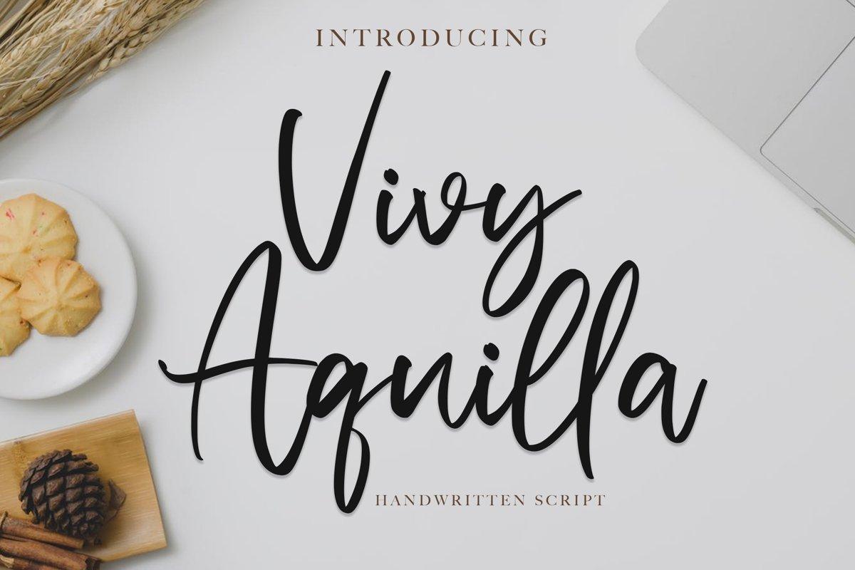 Vivy Aquilla - Handwritten Font example image 1