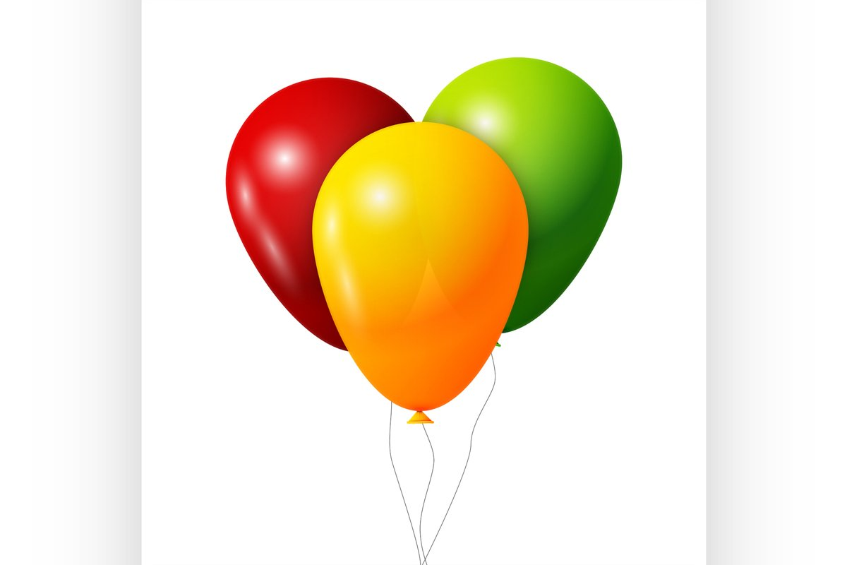 Colorful Balloons set example image 1