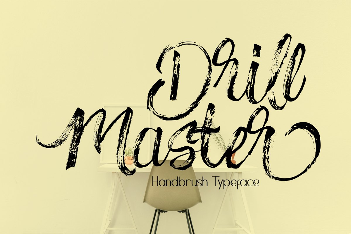 Drillmaster Handbrush Typeface example image 1