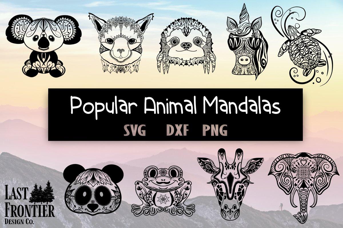 Popular Animal Mandalas Bundle example image 1