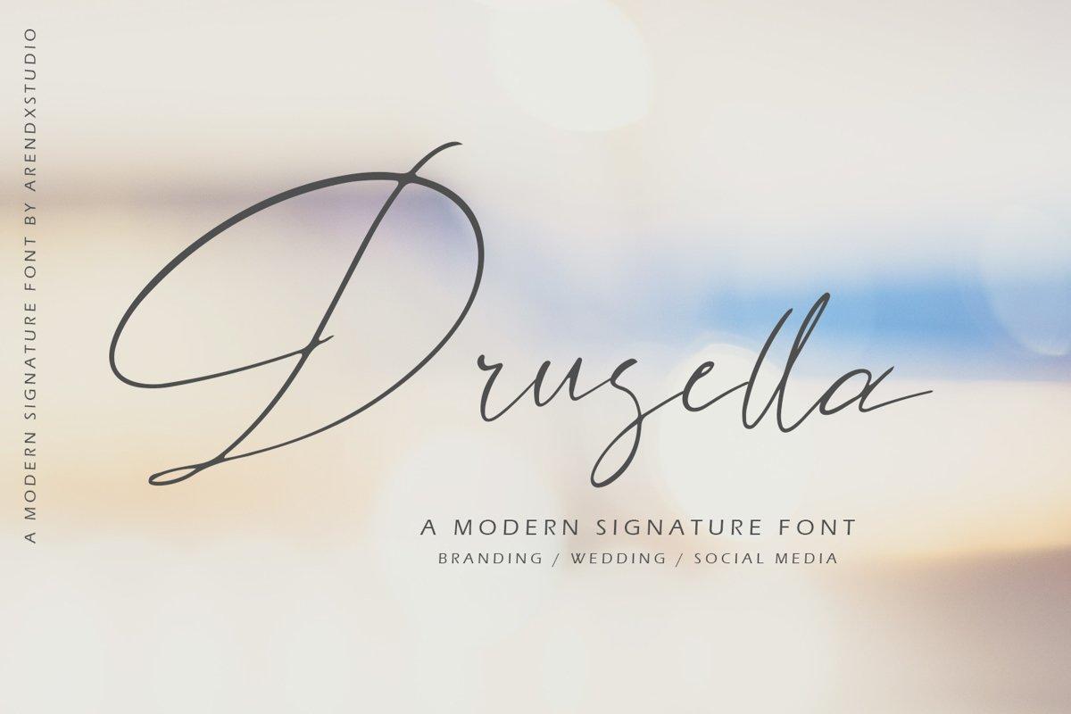 Drusella Modern Calligraphy example image 1