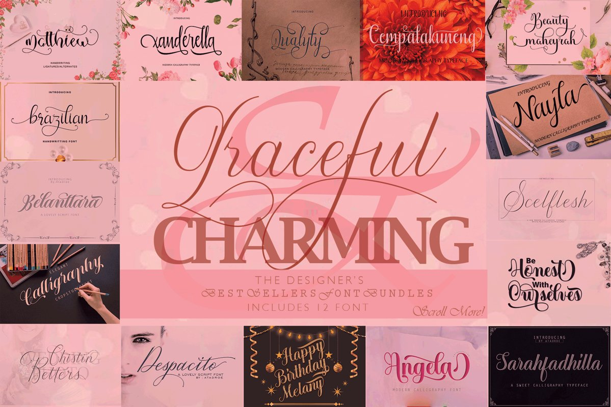 12 graceful charming fonts example image 1