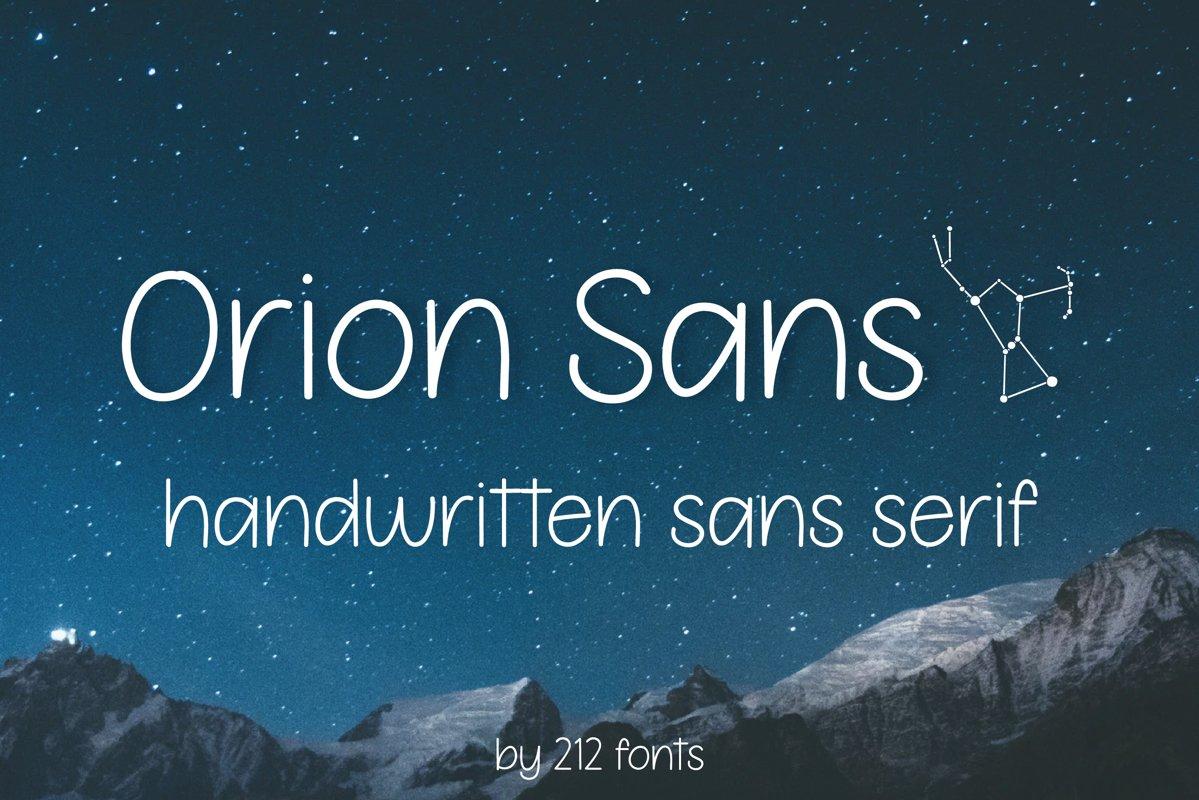 Orion Sans Serif Handwritten Optimistic Girly OTF Font example image 1