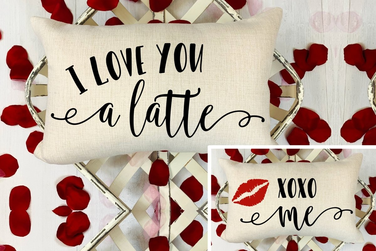 I Love Your A Latte SVG DXF PNG example image 1