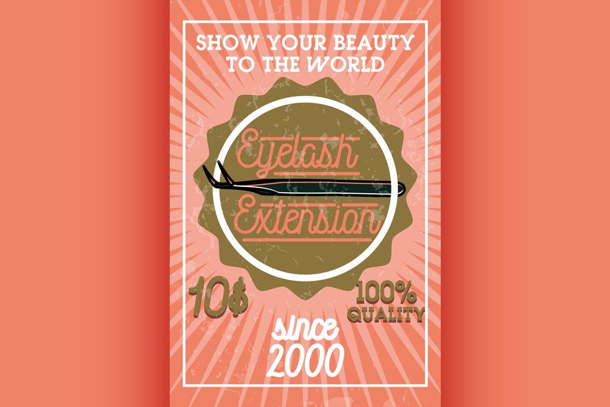 Color vintage eyelash extension banner example image 1