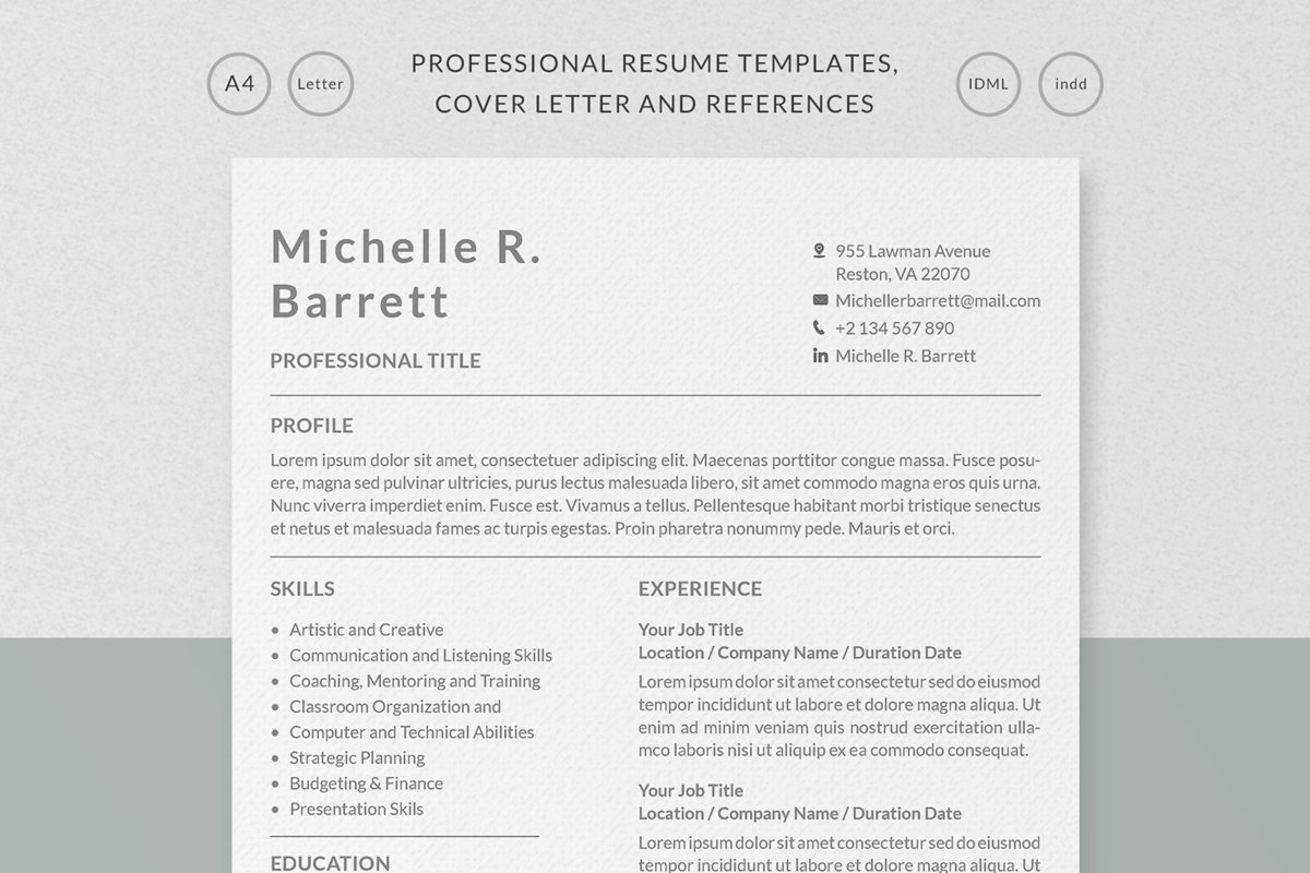 Professional Resume Templates example image 1