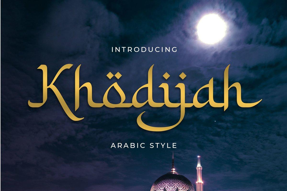 Khodijah - Arabic Style example image 1